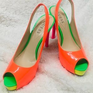 Open toed guess heels size size 8M